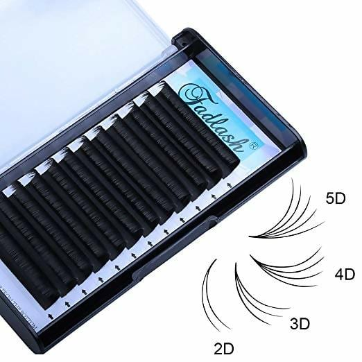 Volume Lashes 0.07mm D curl 16mm Easy Fan 4D 5D 6D 7D Rapid Blooming Lash Extensions Supplies 8D 10D 20D Cluster Eyelash Extensions by FADLASH