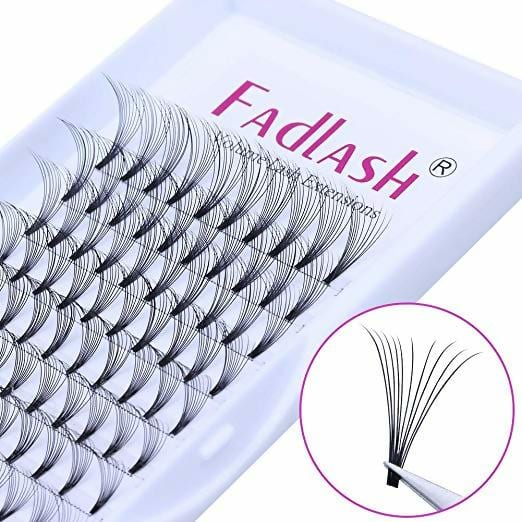 Volume Lash Extensions Premade 10D D Curl 0.10mm 8~14mm Mixed Tray Individual Lashes Knot Free Cluster Lashes by FADLASH